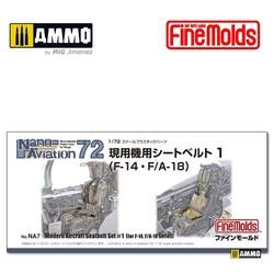 Modern Air Force Seat Belt Set #1 F-14 F/A-18 - Scale 1/72 - Fine Molds - FMNA7