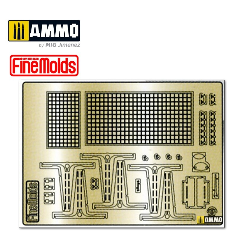 Fine Molds Extra detail parts for Type 4 Medium Tank (Photo Etched) - Scale 1/35 - Fine Molds - FMMG74