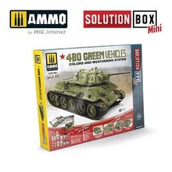 Solution Box 11 Mini 4BO Russian Green Vehicles - Ammo by Mig Jimenez - A.MIG-7900