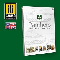 Panthers Modelling the TAKOM Family ENGLISH - Ammo by Mig Jimenez - A.MIG-6270