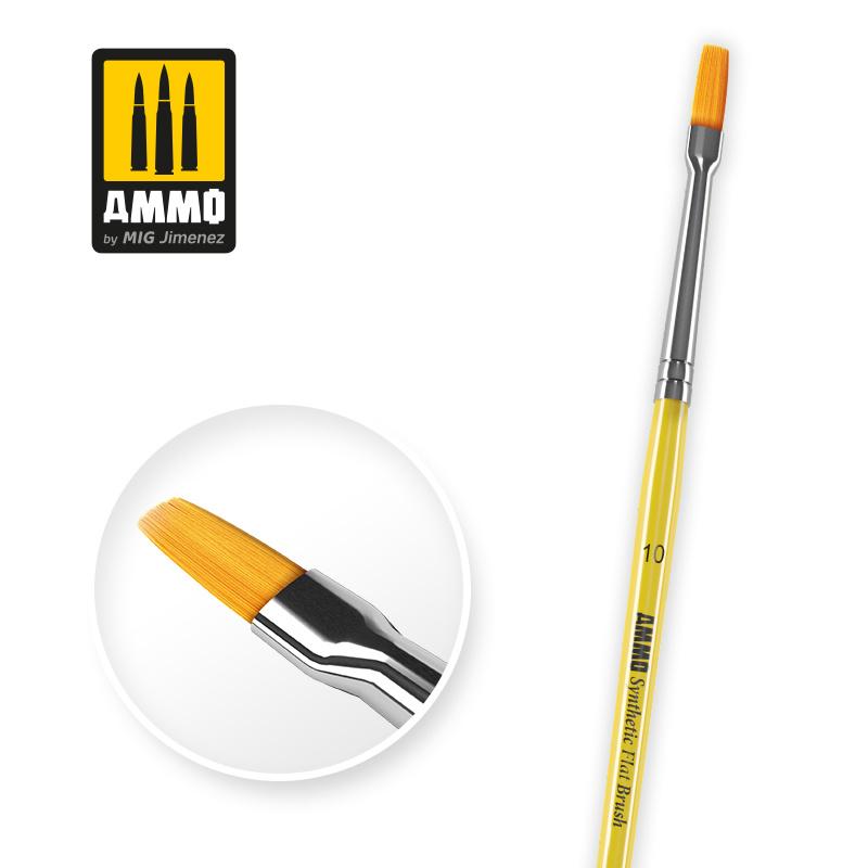 Ammo by Mig Jimenez 10 Synthetic Flat Brush - Ammo by Mig Jimenez - A.MIG-8622