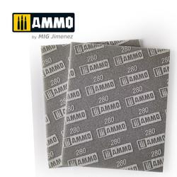 Sanding Sponge Sheet (Grain 280) - Ammo by Mig Jimenez - A.MIG-8558