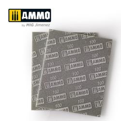 Sanding Sponge Sheet (Grain 100) - Ammo by Mig Jimenez - A.MIG-8555