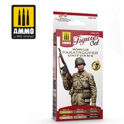 WWII Us Paratroopers Figures Set - Ammo by Mig Jimenez - A.MIG-7039