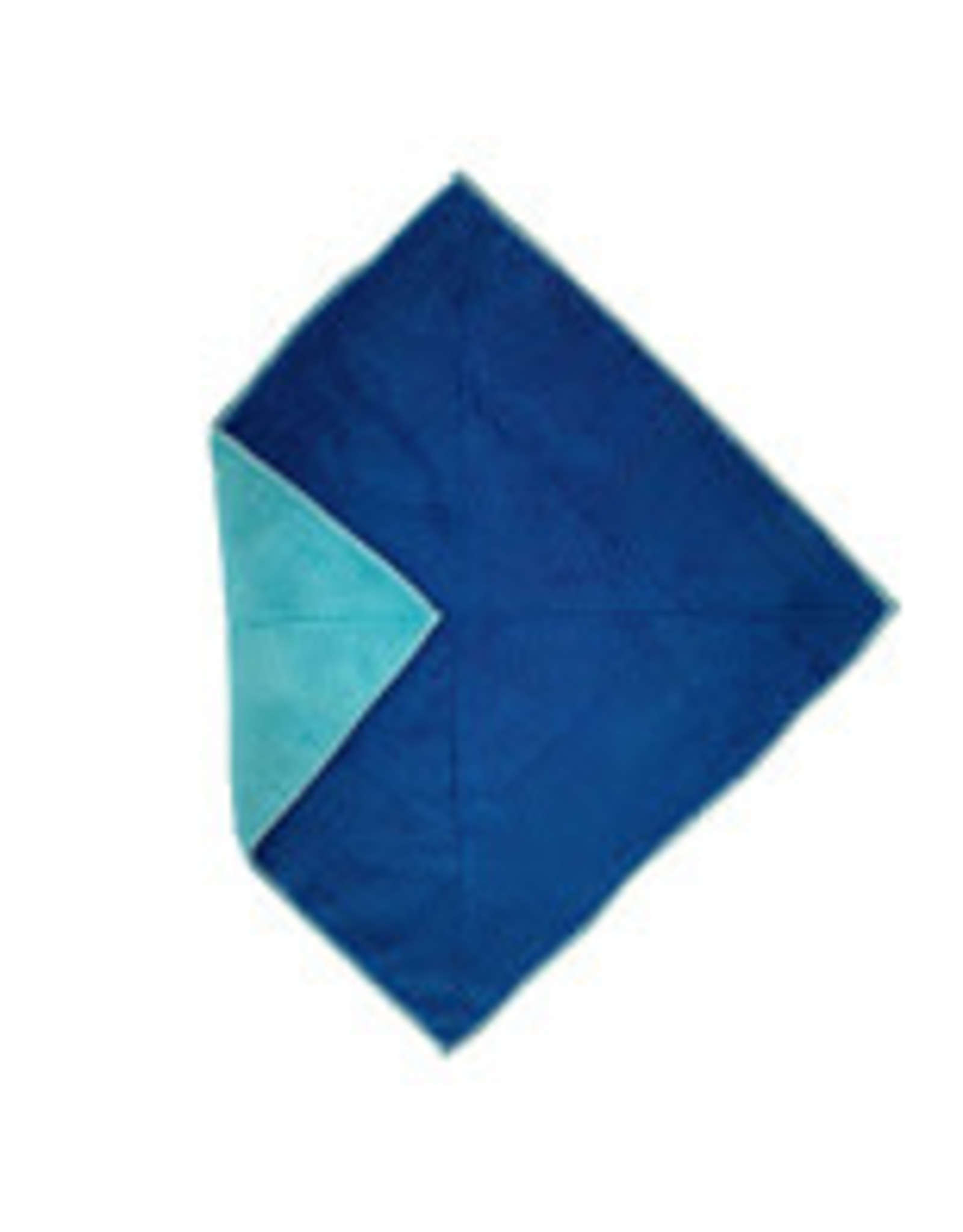 Flipper Microtex duo 30x30 blauw/turquoise