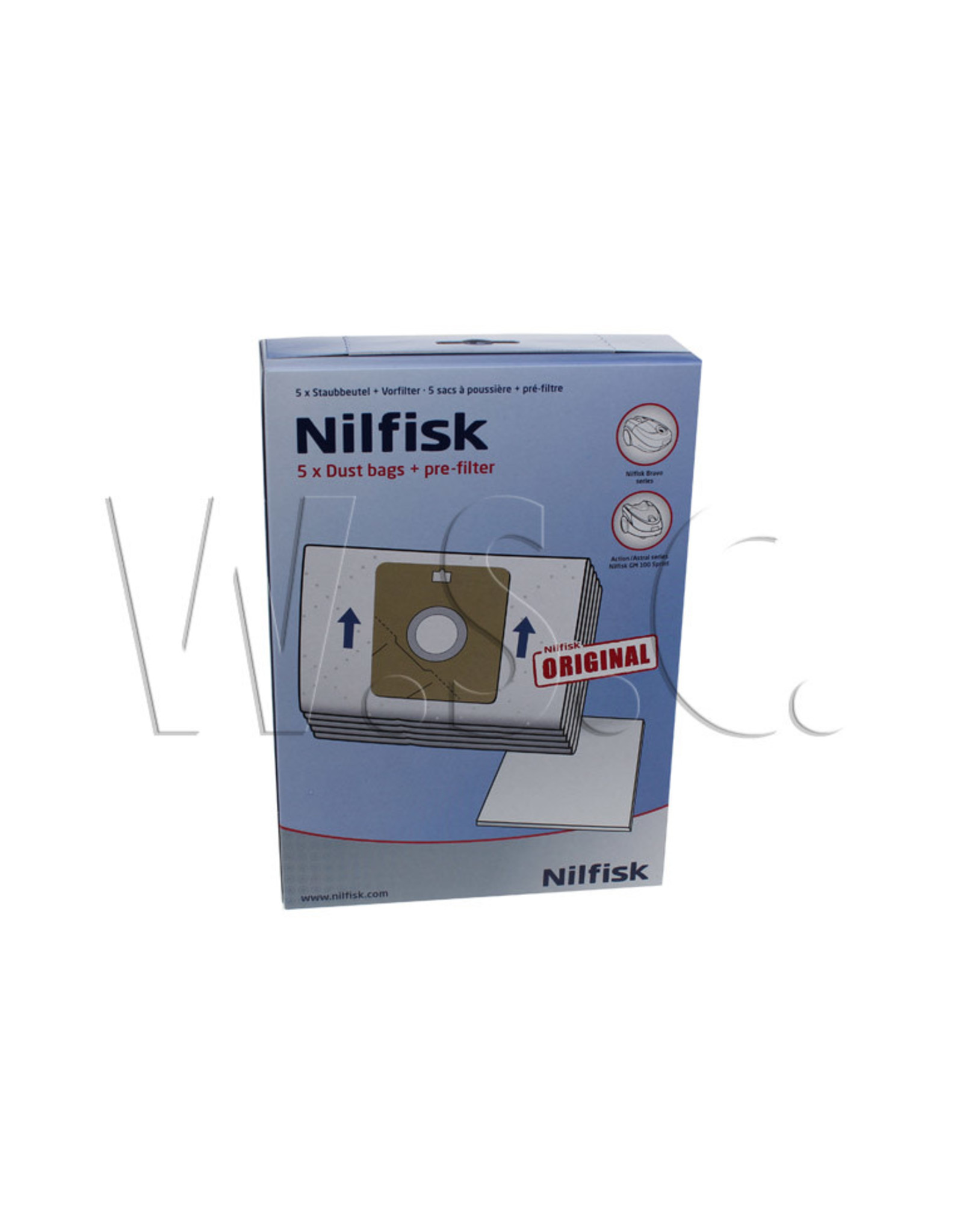 Nilfisk GM100 SPRINT ACTION SERIES NILFISK  A100 A200    5 + Filter