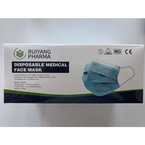 3- Laags medische mondmaskers type IIR
