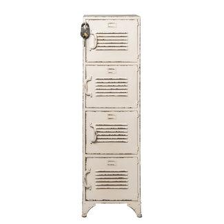 Rootsmann Locker 4 deuren | Wit met slot