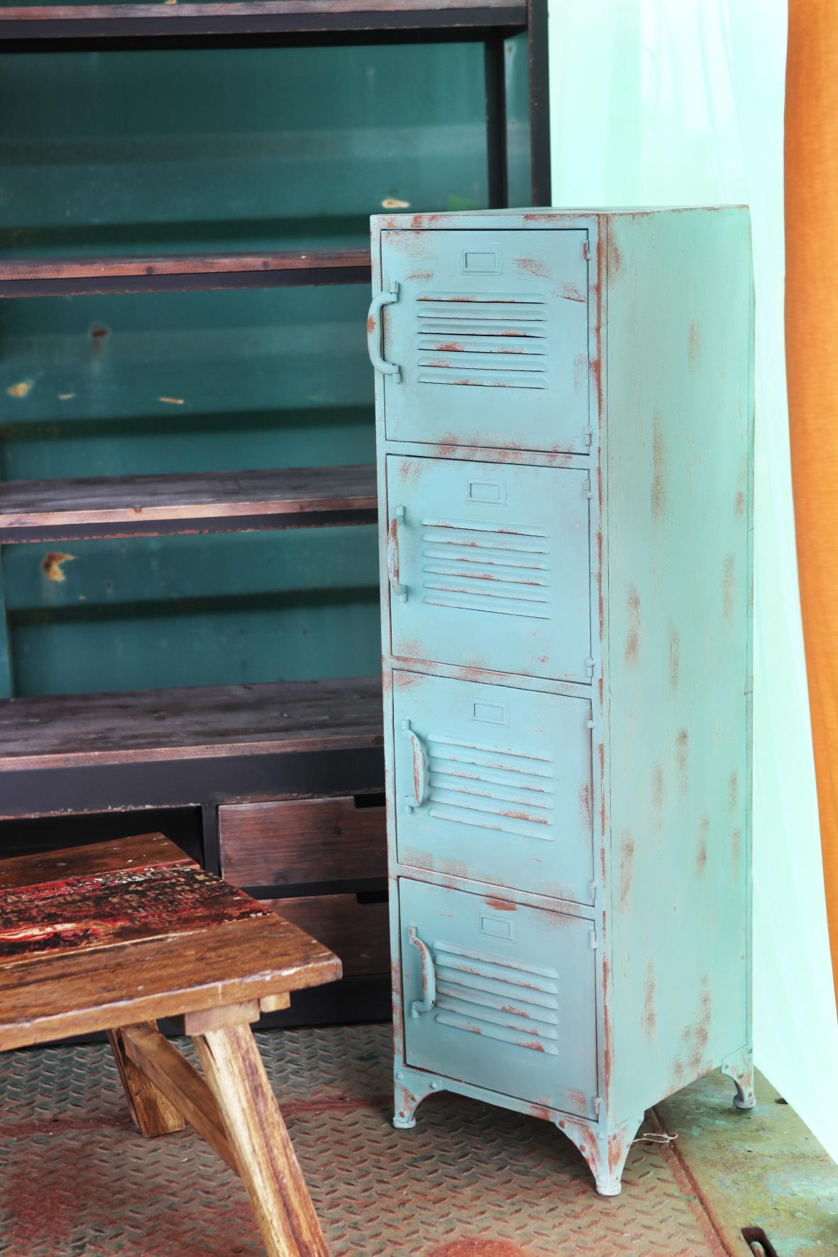Locker 4 deuren | Blauw