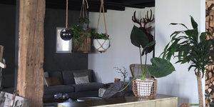 Woondroom: houten balken in huis