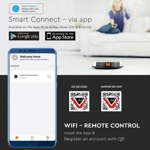 V-TAC Smart Robotstofzuiger self charging met laadstation wit
