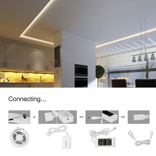 V-TAC 10W LED-Streifenlicht set RGB Kompatibel mit Homeylux App, Alexa und Google Home