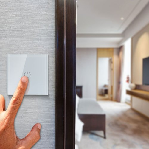 V-TAC Wifi Touch Switch Weiß 1 Switch Kompatibel mit Homeylux App, Alexa und Google Home