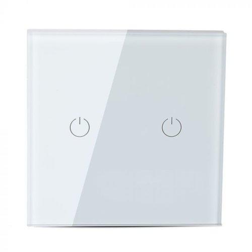 V-TAC Wifi Touch Switch Weiß 2 Schalter