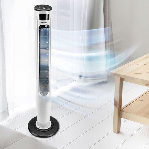 V-TAC Smart Torenventilator met LED Display en Temperatuuraanduiding  - App en Afstandsbediening