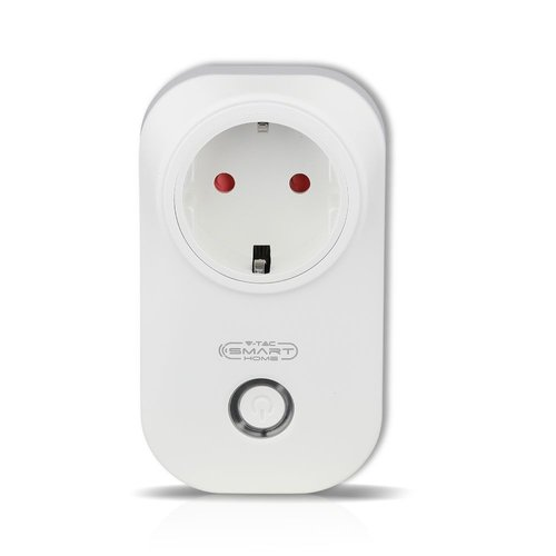 V-TAC  Smart Plug with timer White Compatible with Homeylux App, Alexa and Google Home