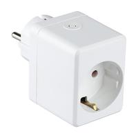 Intelligenter Stecker mit USB-Anschluss Weiß