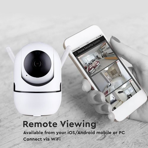 V-TAC 1080P Full HD IP Camera Pan/Tilt en Autotrack Functie Compatibel met Android en iOS