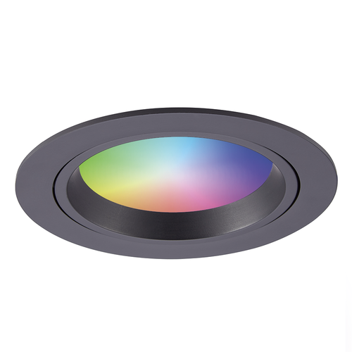 Homeylux Smart WiFi LED recessed spotlight Luna RGBWW tiltable Black IP44 1050lm