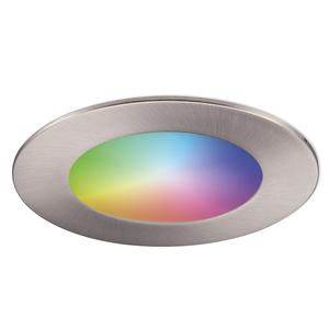 Homeylux Intelligenter WiFi LED-Einbaustrahler Aura RGBWW Edelstahl IP44 1050lm