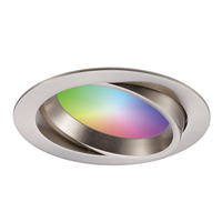 Smart WiFi LED recessed spotlight Luna RGBWW tiltable stainless steel IP44 1050lm