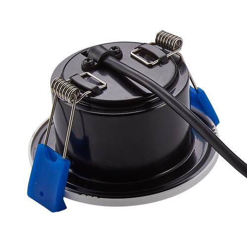 Homeylux Satz von 6 intelligenten WiFi dimmbaren RGBWW LED-Einbaustrahlern Schwarz Venezia 6 Watt IP65