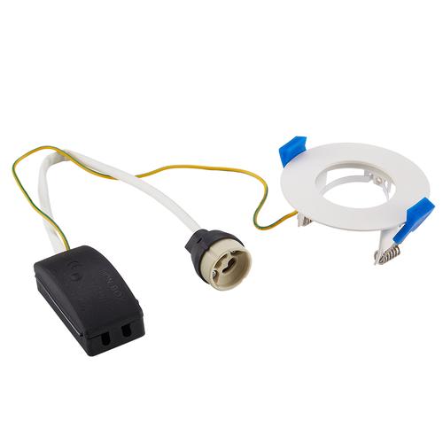 Homeylux Set of 6 smart WiFi dimmable RGBWW LED recessed spotlights Bari white 5 Watt IP65 splashproof