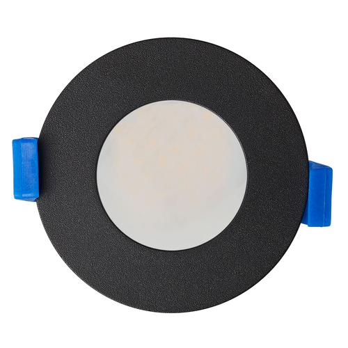 Homeylux Smart WiFi dimbare RGBWW LED inbouwspot Bari zwart GU10 IP65 spatwaterdicht