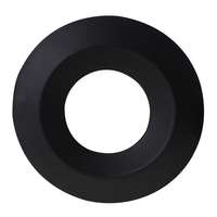 Black cover ring - Dimmable LED downlight Venezia 6 Watt IP65