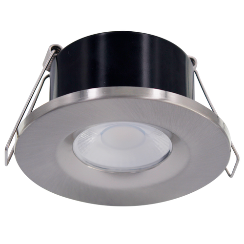 Homeylux Brushed stainless steel cover ring - Dimmable LED downlight Venezia 6 Watt IP65