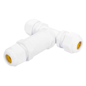 HOFTRONIC Kabelstecker T-Form IP68 Wasserdicht Weiß