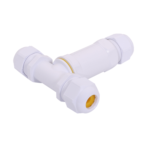 HOFTRONIC Cable connector T-shape IP68 waterproof white