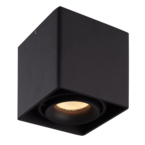 Homeylux Smart WiFi LED surface mounted ceiling spotlight Esto black RGBWW GU10 IP20 tiltable