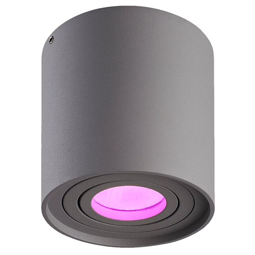 Homeylux Smart WiFi LED surface mounted ceiling spotlight Ray grey RGBWW GU10 IP20 tiltable