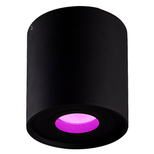 Homeylux Intelligenter WiFi LED Deckenanbaustrahler Ray Schwarz RGBWW GU10 IP20 Kippbar