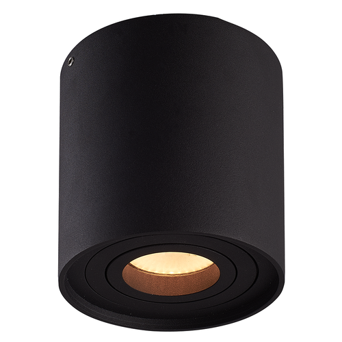 Homeylux Smart WiFi LED surface mounted ceiling spotlight Ray black RGBWW GU10 IP20 tiltable