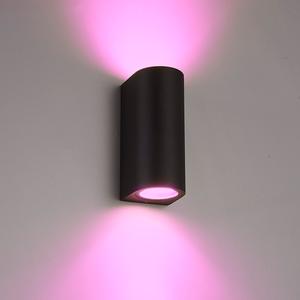 Homeylux Intelligenter WiFi LED Wandleuchte Douglas Schwarz RGBWW GU10 IP44 doppelseitig leuchtend