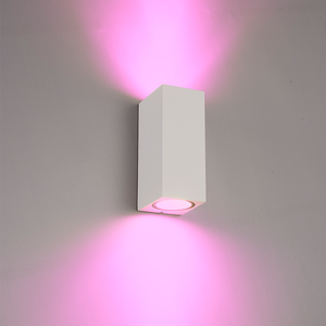 Homeylux Smart WiFi LED wall light Selma white RGBWW GU10 IP44 double-sided illuminating