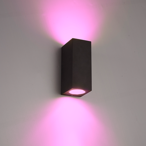 Homeylux Smart WiFi LED wall light Selma black RGBWW GU10 IP44 double-sided illuminating