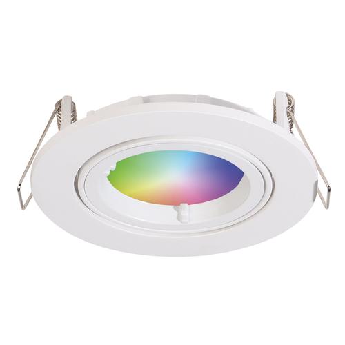 Homeylux Smart WiFi LED inbouwspot Dublin RGBWW kantelbaar wit IP20