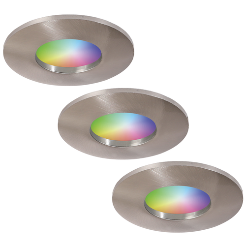 Homeylux Set of 3 smart WiFi RGBWW LED recessed spotlights Vegas  5 Watt IP44