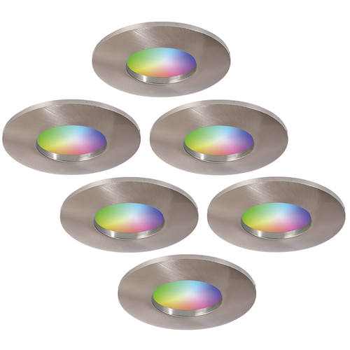 Homeylux Set of 6 smart WiFi RGBWW LED recessed spotlights Vegas  5 Watt IP44