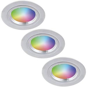 Homeylux Satz von 3 Intelligenten WiFi RGBWW LED-Einbaustrahlern Austin 5 Watt IP20
