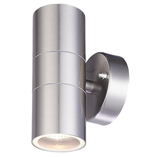 Homeylux Smart WiFi LED Wall light Jasmin RGBWW GU10 round double-sided illuminated stainless steel IP44