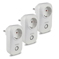 Set of 3 white smart plugs with time switch with Amazon Alexa & Google home