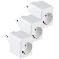 Satz von 3 Weißen Intelligenten Steckern mit USB-Anschluss