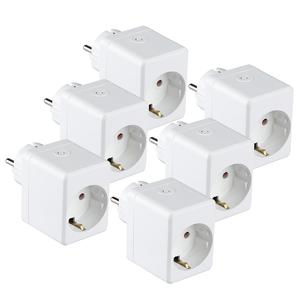 V-TAC Satz von 6 Weißen Intelligenten Steckern mit USB-Anschluss