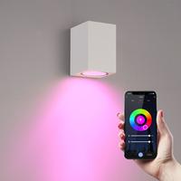Smart WiFi LED wall light Marion white RGBWW GU10 IP44
