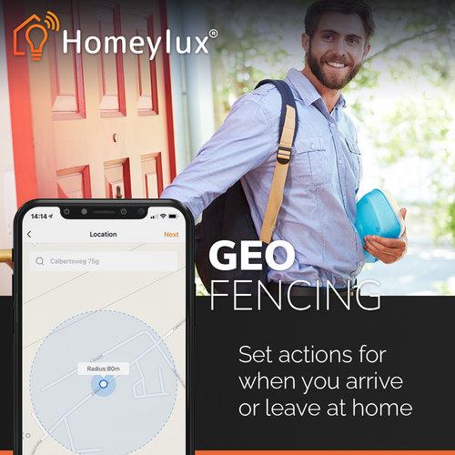 Homeylux Set van 3 stuks smart WiFi RGBWW LED inbouwspots Barcelona wit IP44
