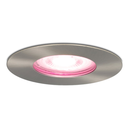 Homeylux Smart WiFi Dimmable RGBWW LED Recessed spot Bari stainless steel GU10 5 Watt IP65 splashproof
